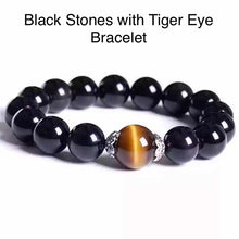 Load image into Gallery viewer, Healing 7 Chakras Lava Tiger Eye Stone Beads 8mm Energy Bracelet