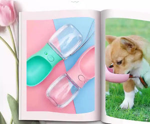 Cat Dog Water Bottle For Pet Outdoor Games & Travel - Dog Water Bottle