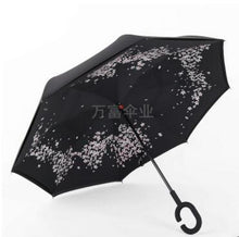 Load image into Gallery viewer, Magic Windproof Reversible Umbrella - Navy Blue - Umbrella