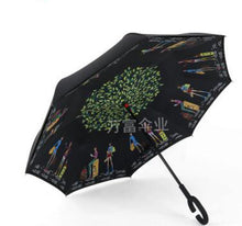 Load image into Gallery viewer, Magic Windproof Reversible Umbrella - Burgundy - Umbrella
