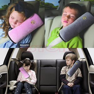 Car Safety Strap Cover With Cushion Pillow - Safety Strap