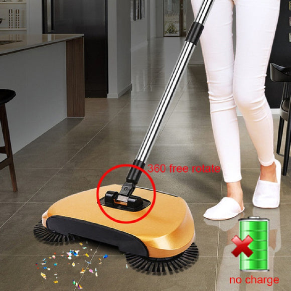 Magic 360 Broom Dustpan Stainless Steel Hand Push Sweeper