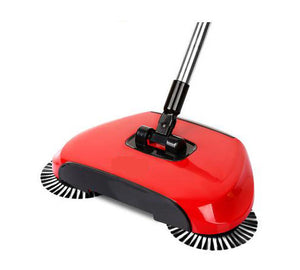 Magic 360 Broom Dustpan Stainless Steel Hand Push Sweeper - Red - Sweeper