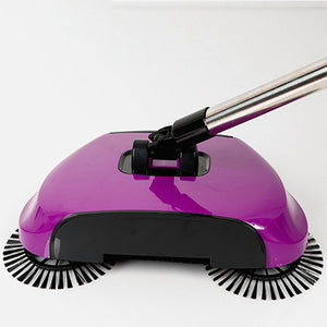 Magic 360 Broom Dustpan Stainless Steel Hand Push Sweeper - Purple - Sweeper