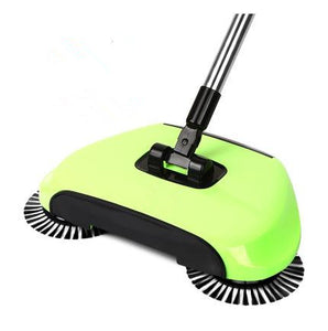 Magic 360 Broom Dustpan Stainless Steel Hand Push Sweeper - Green - Sweeper