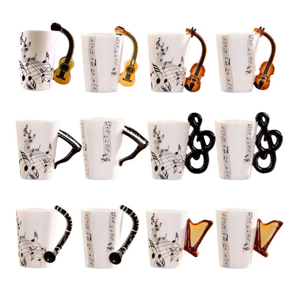 Unique Music Theme Ceramic Mug For Coffee & Tea