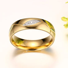 Load image into Gallery viewer, Wedding Ring Engagement Ring Gold Color Titanium Steel Jewelry - Gold / 10 - Couples Ring