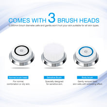 Load image into Gallery viewer, Sonic Vibration Electric Facial Cleansing Brush Rechargeable - Electric Facial Brush