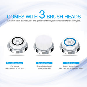 Sonic Vibration Electric Facial Cleansing Brush Rechargeable - Electric Facial Brush