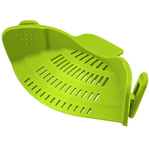 Creative Silicone Clip-On Hot Water Drainer - Green - Clip On Strainer