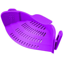 Load image into Gallery viewer, Creative Silicone Clip-On Hot Water Drainer - Purple - Clip On Strainer