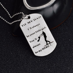 To My Dad Silver Tag Pendant Necklace Or Keychain - Keychain