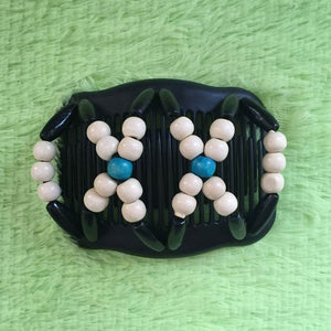 Magic Butterfly Wooden Beads Hair Comb - Milk - Magic Hair Comb
