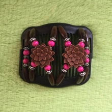 Load image into Gallery viewer, Magic Butterfly Wooden Beads Hair Comb - Rose - Magic Hair Comb