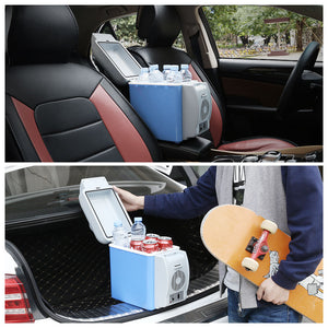 Portable Mini Cool & Warm Dual-Mode Car Refrigerators Box 7.5L - Car Refrigerator
