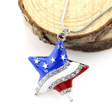 Load image into Gallery viewer, Usa Flag Design Pendant Necklace For Women - Independent Day