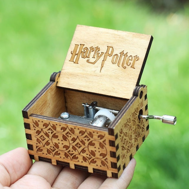 Small Handmade Wooden Music Box-Wooden Music Box-Fynn Depot-1. Harry Potter-Fynn Depot
