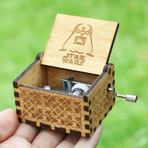 Small Handmade Wooden Music Box - 17. Star Wars - Wooden Music Box