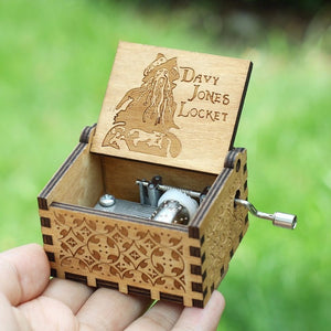 Small Handmade Wooden Music Box - 4. Davy Jones - Wooden Music Box