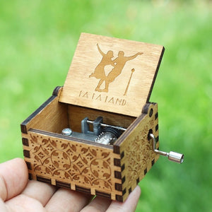 Small Handmade Wooden Music Box - 9. La La Land - Wooden Music Box