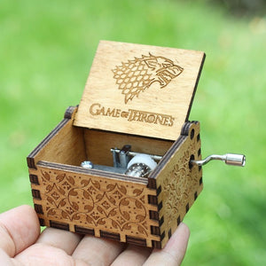 Small Handmade Wooden Music Box - 11. Game Of Thrones 2 - Wooden Music Box