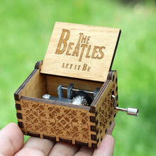 Load image into Gallery viewer, Small Handmade Wooden Music Box - 15. The Beatles - Wooden Music Box