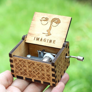 Small Handmade Wooden Music Box - 16. Imagine John Lennon - Wooden Music Box