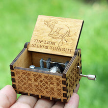 Load image into Gallery viewer, Small Handmade Wooden Music Box - 19. Sleep Lion - Wooden Music Box