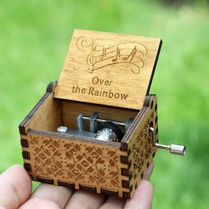 Small Handmade Wooden Music Box - 20. Rainbow - Wooden Music Box