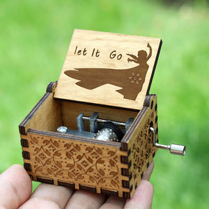 Small Handmade Wooden Music Box - 22. Let It Go - Wooden Music Box