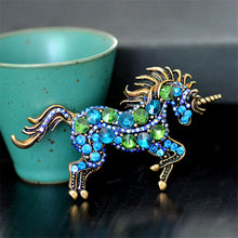 Load image into Gallery viewer, Running Horse Unicorn Brooch - Brooch