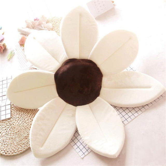 Newborn Baby Sunflower Bathtub Mat Pad - White - Bathtub Mat Pad