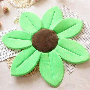 Newborn Baby Sunflower Bathtub Mat Pad - Green - Bathtub Mat Pad