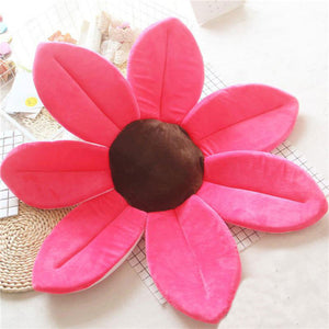 Newborn Baby Sunflower Bathtub Mat Pad - Rose Red - Bathtub Mat Pad