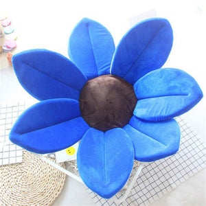 Newborn Baby Sunflower Bathtub Mat Pad - Dark Blue - Bathtub Mat Pad