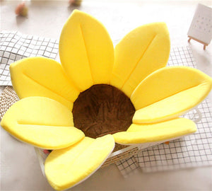 Newborn Baby Sunflower Bathtub Mat Pad - Yellow - Bathtub Mat Pad