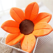 Load image into Gallery viewer, Newborn Baby Sunflower Bathtub Mat Pad - Orange - Bathtub Mat Pad
