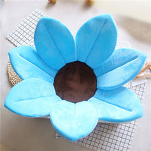Load image into Gallery viewer, Newborn Baby Sunflower Bathtub Mat Pad - Blue - Bathtub Mat Pad