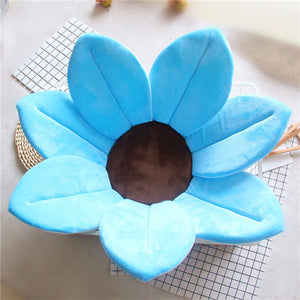 Newborn Baby Sunflower Bathtub Mat Pad - Blue - Bathtub Mat Pad