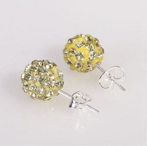 Mini Ball Crystal Stud Earring, 10 Colors
