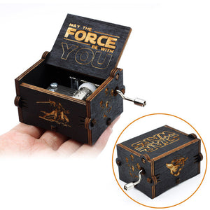 Small Handmade Wooden Music Box - 21. Star Wars 2 - Wooden Music Box