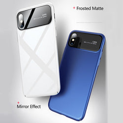 Tempered Glass/matte Pc Phone Case For Iphone X 8 7 6 6S Plus & Samsung S9 S9 Plus - Phone Case