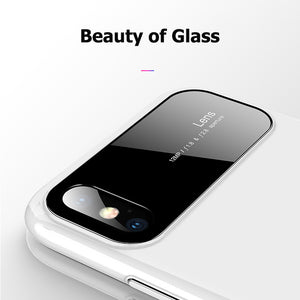 Tempered Glass & Matte Pc Phone Case For Iphone Samsung - Phone Case