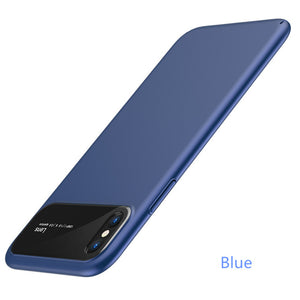 Tempered Glass & Matte Pc Phone Case For Iphone Samsung - Matte Blue / For Iphone 6 6S - Phone Case