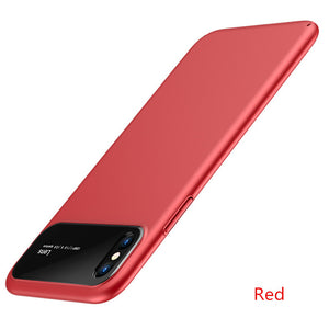 Tempered Glass & Matte Pc Phone Case For Iphone Samsung - Matte Red / For Iphone 6 6S - Phone Case