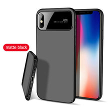 Load image into Gallery viewer, Tempered Glass & Matte Pc Phone Case For Iphone Samsung - Phone Case