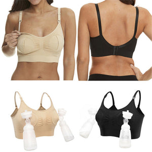 Hands-Free Double Breast Pump Bra With Detachable Straps - Breast Feeding Bra