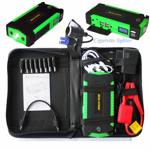 Car Emergency Jump Start With USB & Safety Feature-Car Jump Starter-Fynn Depot-Green-Fynn Depot
