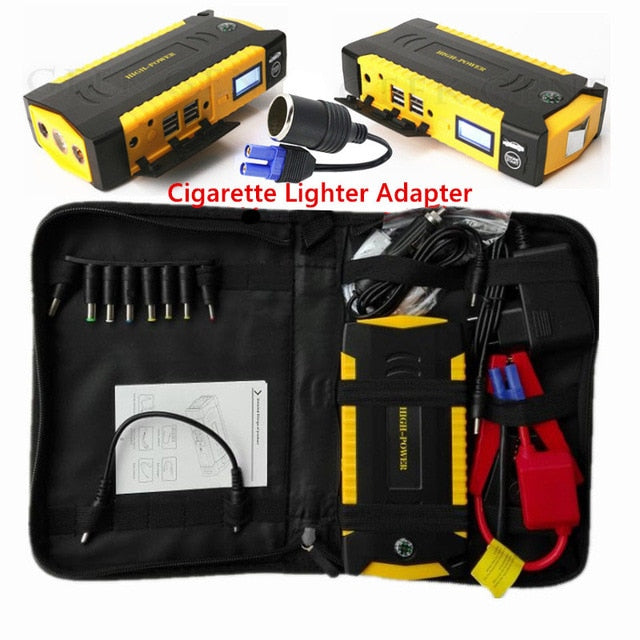 Car Emergency Jump Start With USB & Safety Feature-Car Jump Starter-Fynn Depot-Yellow-Fynn Depot