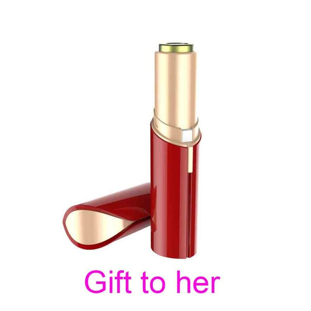Lipstick Flawless Painless Hair Remover & Flawless Brows - Red - Face Hair Razor